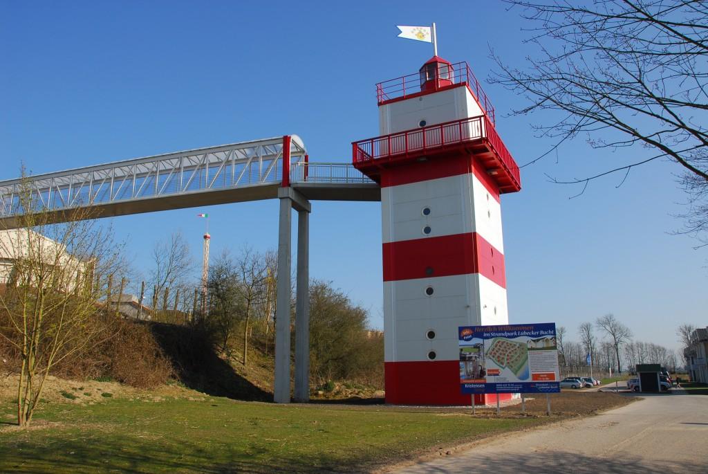 Der Leuchtturm - direkter Zugang in den Hansa Park
